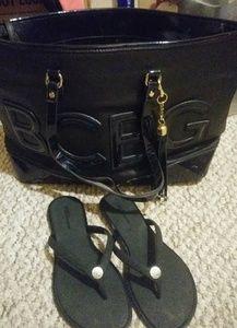 BCBG Purse and Sandal Bundle